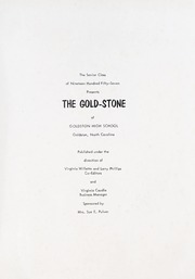 Page 5, 1957 Edition, Goldston High School - Gold Stone Yearbook (Goldston, NC) online yearbook collection