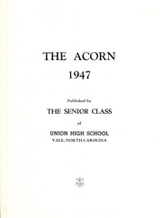 Page 3, 1947 Edition, Union High School - Acorn Yearbook (Vale, NC) online yearbook collection