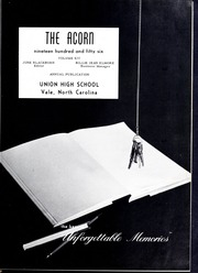 Page 5, 1956 Edition, Union High School - Acorn Yearbook (Vale, NC) online yearbook collection