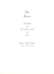 Page 5, 1961 Edition, Union High School - Acorn Yearbook (Vale, NC) online yearbook collection