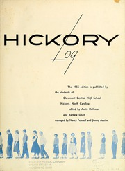 Page 7, 1956 Edition, Claremont High School - Hickory Log Yearbook (Hickory, NC) online yearbook collection