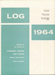 Page 7, 1964 Edition, Claremont High School - Hickory Log Yearbook (Hickory, NC) online yearbook collection