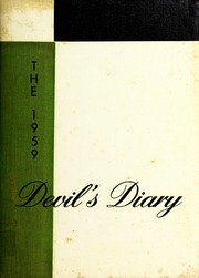 Gamewell Collettsville High School - Devils Diary Yearbook (Lenoir, NC) online yearbook collection, 1959 Edition, Page 1