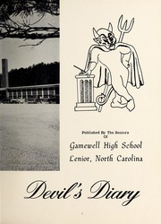 Page 7, 1959 Edition, Gamewell Collettsville High School - Devils Diary Yearbook (Lenoir, NC) online yearbook collection