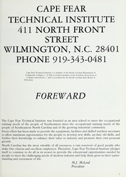 Page 7, 1978 Edition, Cape Fear Community College - Bridge (Wilmington, NC) online yearbook collection