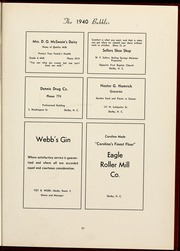 Page 39, 1940 Edition, Gardner Webb University - Web / Anchor Yearbook (Boiling Springs, NC) online yearbook collection
