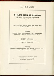 Page 42, 1940 Edition, Gardner Webb University - Web / Anchor Yearbook (Boiling Springs, NC) online yearbook collection