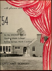 Page 7, 1954 Edition, Gardner Webb University - Web Yearbook (Boiling Springs, NC) online yearbook collection