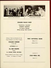 Page 139, 1961 Edition, Gardner Webb University - Web / Anchor Yearbook (Boiling Springs, NC) online yearbook collection