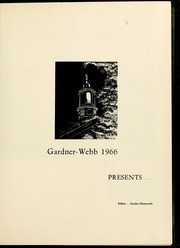 Page 5, 1966 Edition, Gardner Webb University - Web Yearbook (Boiling Springs, NC) online yearbook collection