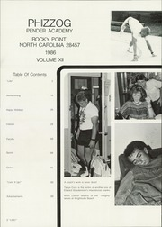Page 6, 1986 Edition, Pender Academy - Phizzog Yearbook (Rocky Point, NC) online yearbook collection