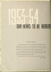 Page 6, 1954 Edition, University of North Carolina Asheville - Archive Yearbook (Asheville, NC) online yearbook collection