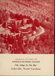Page 7, 1958 Edition, University of North Carolina Asheville - Archive Yearbook (Asheville, NC) online yearbook collection