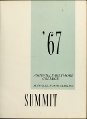 Page 7, 1967 Edition, University of North Carolina Asheville - Archive Yearbook (Asheville, NC) online yearbook collection