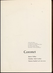 Page 5, 1967 Edition, Queens University of Charlotte - Coronet Yearbook (Charlotte, NC) online yearbook collection