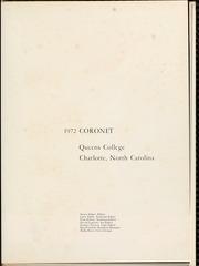 Page 5, 1972 Edition, Queens University of Charlotte - Coronet Yearbook (Charlotte, NC) online yearbook collection