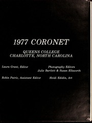 Page 5, 1977 Edition, Queens University of Charlotte - Coronet Yearbook (Charlotte, NC) online yearbook collection