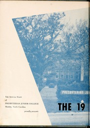 Page 6, 1955 Edition, St Andrews Presbyterian College - Lamp and Shield / Bagpipe Yearbook (Laurinburg, NC) online yearbook collection