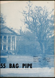 Page 7, 1955 Edition, St Andrews Presbyterian College - Lamp and Shield / Bagpipe Yearbook (Laurinburg, NC) online yearbook collection
