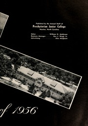 Page 7, 1956 Edition, St Andrews Presbyterian College - Lamp and Shield Yearbook (Laurinburg, NC) online yearbook collection