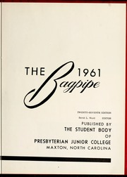 Page 7, 1961 Edition, St Andrews Presbyterian College - Lamp and Shield Yearbook (Laurinburg, NC) online yearbook collection