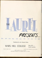 Page 6, 1956 Edition, Mars Hill College - Laurel Yearbook (Mars Hill, NC) online yearbook collection
