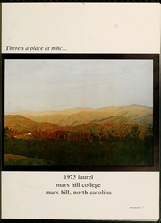 Page 5, 1975 Edition, Mars Hill College - Laurel Yearbook (Mars Hill, NC) online yearbook collection