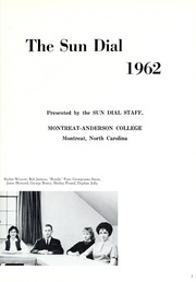 Page 7, 1962 Edition, Montreat College - Sundial Yearbook (Montreat, NC) online yearbook collection