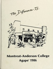 1986 Edition, Montreat College - Sundial Yearbook (Montreat, NC)