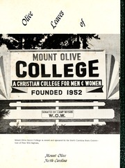Page 5, 1957 Edition, Mount Olive College - Olive Leaves Yearbook (Mount Olive, NC) online yearbook collection