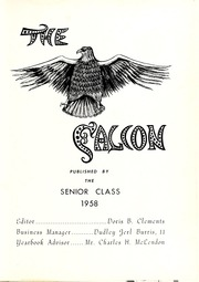 Page 5, 1958 Edition, St Augustines College - Falcon Yearbook (Raleigh, NC) online yearbook collection