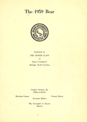 Page 5, 1959 Edition, Shaw University - Bear Yearbook (Raleigh, NC) online yearbook collection