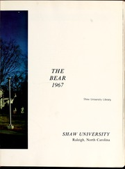 Page 7, 1967 Edition, Shaw University - Bear Yearbook (Raleigh, NC) online yearbook collection