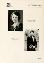 Page 16, 1927 Edition, Flora Macdonald College - White Heather Yearbook (Red Springs, NC) online yearbook collection