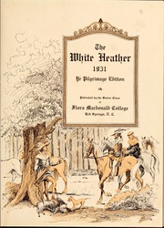 Page 7, 1931 Edition, Flora Macdonald College - White Heather Yearbook (Red Springs, NC) online yearbook collection