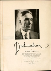 Page 12, 1936 Edition, Flora Macdonald College - White Heather Yearbook (Red Springs, NC) online yearbook collection