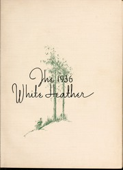 Page 7, 1936 Edition, Flora Macdonald College - White Heather Yearbook (Red Springs, NC) online yearbook collection