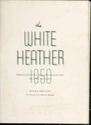 Page 7, 1950 Edition, Flora Macdonald College - White Heather Yearbook (Red Springs, NC) online yearbook collection