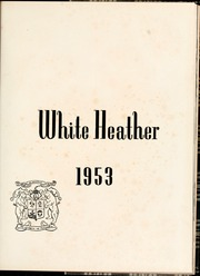 Page 5, 1953 Edition, Flora Macdonald College - White Heather Yearbook (Red Springs, NC) online yearbook collection