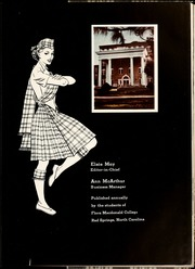 Page 7, 1953 Edition, Flora Macdonald College - White Heather Yearbook (Red Springs, NC) online yearbook collection