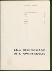 Page 5, 1969 Edition, North Carolina Wesleyan College - Dissenter Yearbook (Rocky Mount, NC) online yearbook collection