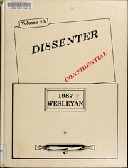 1987 Edition, North Carolina Wesleyan College - Dissenter Yearbook (Rocky Mount, NC)