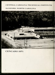 Page 6, 1971 Edition, Central Carolina Community College - Cencaro Yearbook (Sanford, NC) online yearbook collection