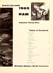 Page 7, 1965 Edition, Winston Salem State University - Ram Yearbook (Winston Salem, NC) online yearbook collection