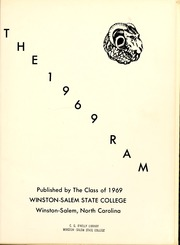 Page 5, 1969 Edition, Winston Salem State University - Ram Yearbook (Winston Salem, NC) online yearbook collection