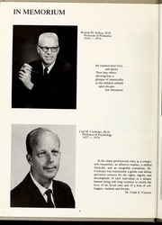 Page 8, 1975 Edition, Wake Forest School of Medicine - Gray Matter Yearbook (Winston Salem, NC) online yearbook collection