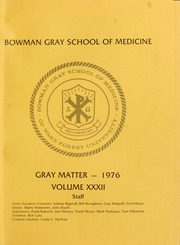 Page 5, 1976 Edition, Wake Forest School of Medicine - Gray Matter Yearbook (Winston Salem, NC) online yearbook collection