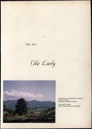 Page 7, 1965 Edition, Warren Wilson College - Ole Lady Yearbook (Swannanoa, NC) online yearbook collection