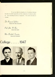 Page 15, 1947 Edition, Catawba College - Sayakini / Swastika Yearbook (Salisbury, NC) online yearbook collection
