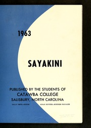 Page 5, 1963 Edition, Catawba College - Sayakini / Swastika Yearbook (Salisbury, NC) online yearbook collection